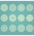 Snowflake winter geometric vintage set vector image
