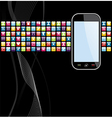 Mobile phone apps icons background vector image