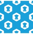 Chef hat hexagon pattern vector image