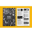 Cafe menu restaurant brochure Food design template vector image