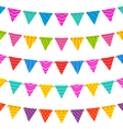 Group Hanging Bunting Party Flags vector image
