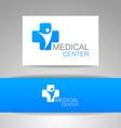 medical center logo template vector image vector image