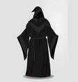 black long wizard uniform vector image