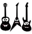 cartoon character guitars vector image