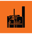 Chemical plant icon vector image