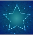 Christmas star of luminous garlands vector image