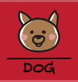 dog hand-drawn style vector image