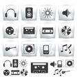 Icons set Music sound vector image
