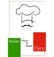 Italian restaurant menu design vector image