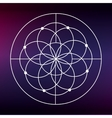 Sacred geometry icon White Shape design vector image