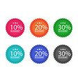 set of price label discount sale vector image