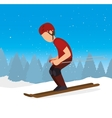 skiing downhill man extreme sports vector image