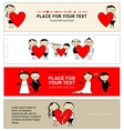 Valentine day Collection of banners for your vector image