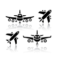 Set of transport icons - Plane vector image vector image