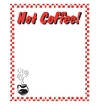 Hot coffee frame vector image vector image