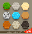 ground texture patterns for game-set 1 vector image vector image