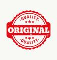original quality stamp vector image