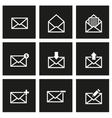 black email icon set vector image