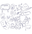 School collection vector image vector image