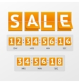 Countdown Timer Sale vector image vector image