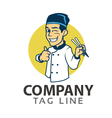 Oriental Chef Logo vector image