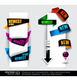 paper tag collection vector image vector image
