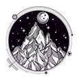 Mountain and sacred geomerty vector image