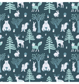 wild winter forest vector image