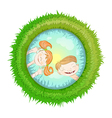 Children Playing with Water vector image