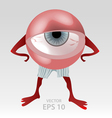 Human tired eye mascot vector