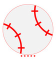 baseball ball icon color fill style vector image