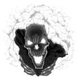 Black skeleton vector image