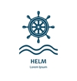 Design of logo with nautical helm vector image