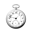 old vintage pocket watch antique isolated on white vector image