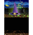Witch hat and cauldron vector image