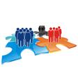 puzzle team vector image vector image