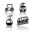 Set of transport icons - Recreation vector image vector image