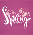 spring is coming template design with images of vector image vector image
