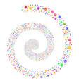 web browser fireworks spiral vector image