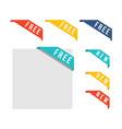 set of price label discount sale vector image
