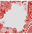 Romantic pattern background hearts vector image vector image
