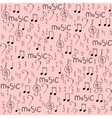 Cartoon hand drawn seamless pattern on the vector image