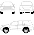Sport utility vehicle car vector image