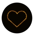 Heart icon silhouette of gold vector image