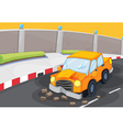 A cracked car at the road vector image