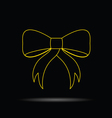bow gold on black vector image