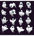 Cartoon spooky ghost character collection Spooky vector image