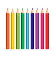 colorful pencils set on white background vector image