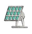 drawn solar panel renewable energy alternative vector image