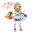 fashion cute girls vector image